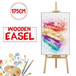 175CM DRAWING STUDIO EASEL ARTIST ART CRAFT DISPLAY EASELS PINE WOOD WOODEN