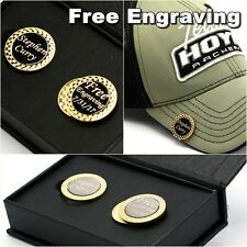 Free engraving - Golf Ball Markers Magnetic Golf Hat Clip Premium Golf Gifts