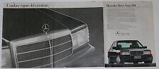 Advert Pubblicità 1987 MERCEDES 190 W201