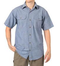 Camicie casual e maglie da uomo blu ampio in cotone
