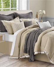 Sunham Stafford Bedding Cotton/Linen 10 Piece CAL KING Comforter Set KHAKI D052