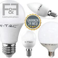 LAMPADA LED LAMPADINA V-TAC VTAC E27 E14 GLOBO SFERA PALLA CANDELA FILAMENTO TOP