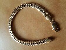 bracelet  gourmette maille américaine plaqué or