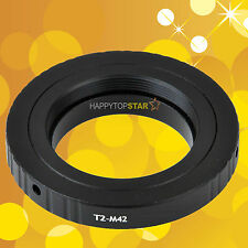 T2-M42 Adapter for Telescopes microscopes T2 T Lens to M42 Ring Mount Camera