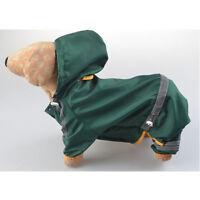 Dog Hooded Raincoat Rain Coat Pet Jacket Puppy Outdoor Clothes Waterproof Coat