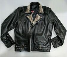 Punk Rock Studded Leather Biker Jacket British Style Motorcycle