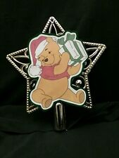 Disney inspired Winnie the Pooh Santa Christmas Tree Topper Ornament Star top