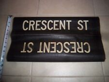 NYC SUBWAY SIGN CRESCENT STREET BROOKLYN BKLYN NY ROLL SIGN URBAN NY TRANSIT ART