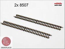 Z 1:220 Scale Märklin Mini-Club Way Tracks Rails Set 112,8mm 4-7/16 2x 8507