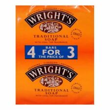 24 x 125g WRIGHTS TRADITIONAL COAL TAR FRAGRANCE SOAP BARS ANTISEPTIC CLEANSING