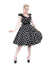 Hearts & Roses Dress Size 24 Vintage Black White Polka Dots Bow Full Skirt