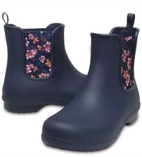 Crocs Womens Freesail Chelsea Boot Navy / Floral SIZE 10 US