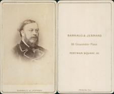 Barraud, Londres, personnalité à identifier CDV vintage albumen carte de visite.