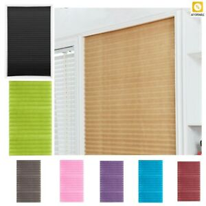 Blinds Curtains Self-Adhesive Pleated Half Blackout Windows Shades For Kitchen