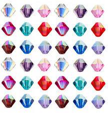 Assorted Mixed 50 x 8mm Crystal Glass Faceted Round Beads A3618