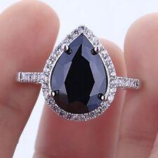 Women 925 Silver Gift Natural Gemstone Gem Wedding Engagement Ring Wholesale