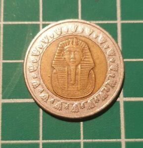 egyptian one pound coin - tutankhamun