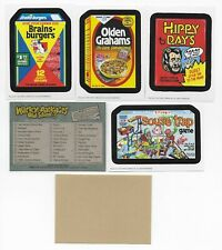 WACKY PACKAGES Old School Series 3 MASTER SET Tan, White, Ludlow  156 Cards