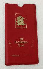 THE CHARTERED BANK RARE VINTAGE SAVINGS ACCOUNT PASSBOOK PLASTIC COVER