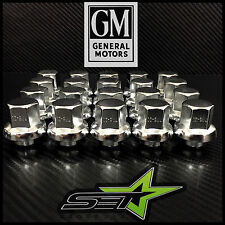 """20 CHROME GM OE SNOWFLAKE STYLE 12X1.5 REPLACEMENT MAG LUG NUTS 3/4"""" HEX"""
