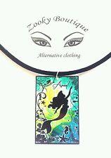 Disney La Sirenita Ariel llamativa Gargantilla Collar Colgante Terciopelo Negro Joyería