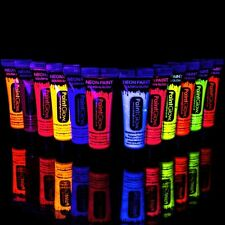 PaintGlow 10ml/.34oz Blacklight Reactive Face and Body Paint- FAST USA Shipping!