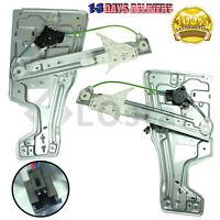 Window Regulator Front LH + RH w/ Motor Fits 05-09 Chevy Equinox Pontiac Torrent
