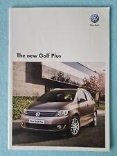 Volkswagen Golf Plus S SE car brochure sales catalogue April 2009 MINT VW B