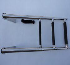 3-Step Stainless Steel Telescoping Marine Boat Ladder Upper Platform Durable
