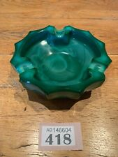 Unusual Large green glass, mid century, ash tray - no damage
