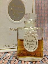 Vintage 1980s Miss Dior 1/4 oz 7.5 ml Pure Parfum Christian Dior - OLD FORMULA