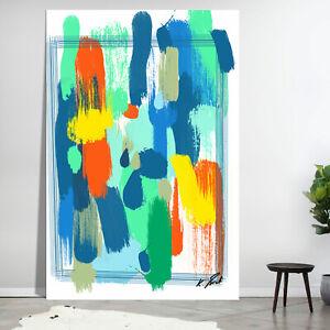 Abstraktes Bild Bunt Farbe Leinwand Kunst Bilder Wandbilder Modern Neu D2261