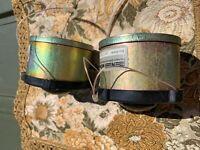2 x Neumann horn AlNiCo   tweeter horn drivers vintage  speaker
