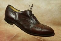 Johnston&Murphy Aristocraft Brown Leather Wingtip Oxford Dress Shoes Mens 13 D/B