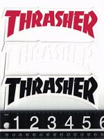THRASHER MAGAZINE STICKER Thrasher Die Cut Logo Sticker Red White or Black Decal
