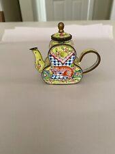 New listing Metal Enamel Cat Teapot by Kelvin Chen in 2000. No. 441, Fun orange cat