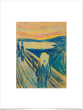 EDVARD MUNCH THE SCREAM 1893 SKETCH LIMITED EDITION BIG BORDERS ART PRINT 18X24
