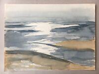 Blick auf´s Meer Mittelmeer Nodsee Ostsee? 23,5 x 32 cm Wattmeer