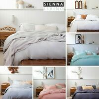 SIENNA LIVING Bamboo Egyptian Cotton 400tc Thread Count Quilt Duvet Cover Set
