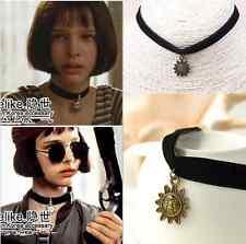 Vintage 90's Black Velvet Choker Gothic Matilda Sun Retro Celebrity Necklace New