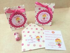 Personalised Tooth Fairy Letter, Gift Bags, Fairy Dust, First Tooth, Pink Set