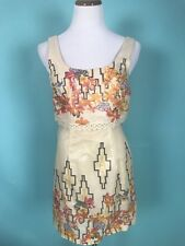 Free People Geometric Floral Print Layered Dress Size 4