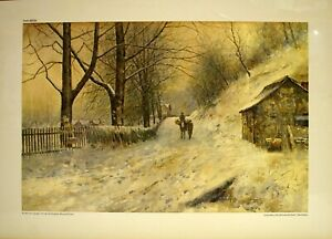 """Paul Sawyier, """"Up the Hill of the Old Louisville Road"""", 24.37""""x18"""", #4333 S/N"""