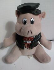 CLEARANCE - It #737 - Harley Hog with Leather Coat & Hat Stuffed Animal