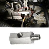 """1/8"""" BSPT Oil Pressure Sensor Tee to NPT Adapter Turbo Feed Line Gauge 6mm*50mm"""