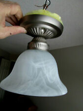 Ceiling Light Fixture Small and Simple 60W White Glass Shade