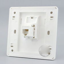 Wall Face Plate One Port Socket Telephone CAT3 RJ-11 Outlet Panel Faceplat RJ-11
