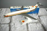 "National Airlines Boeing 727-200 Airplane Desk Top Model with Stand 8.25"" Long"