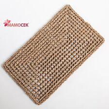 ZERBINO tappeto naturale corda erba cm.76x46 ingresso porta da decorare