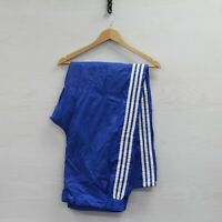 Vintage Adidas Wind Nylon Pants Size XL Blue 80s 3 Stripes Trefoil